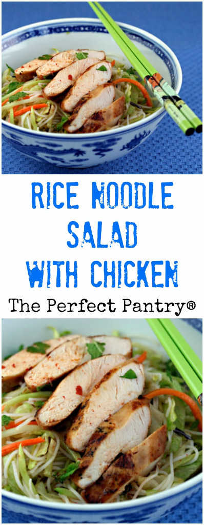 Rice noodle salad with chicken is an easy at-home version of a Vietnamese restaurant favorite.