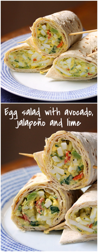 Kick up your everyday egg salad with chopped avocado, jalapeño pepper, and lime.