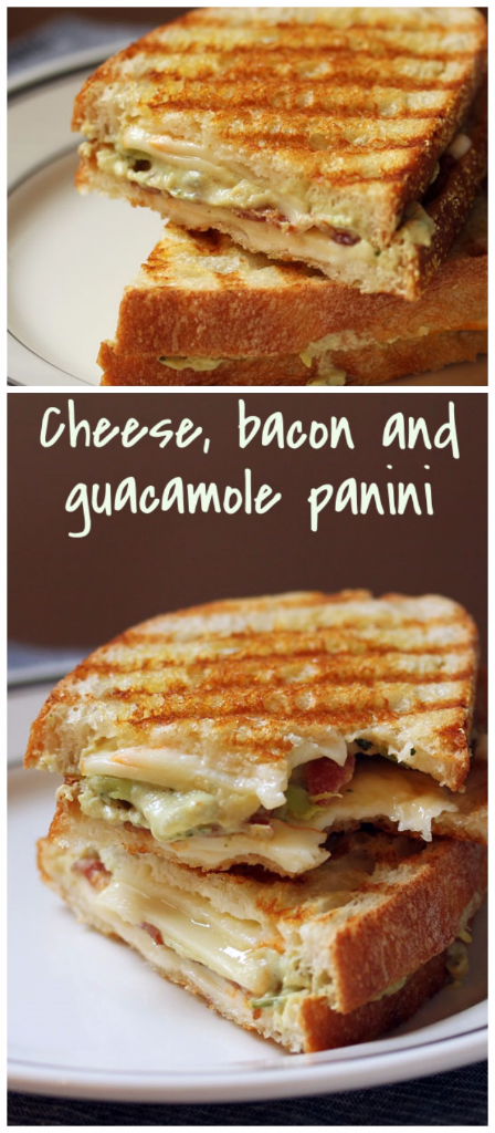 Invented by a Boston food truck, this cheese, bacon and guacamole panini is called The Green Muenster! It's a favorite in our house.