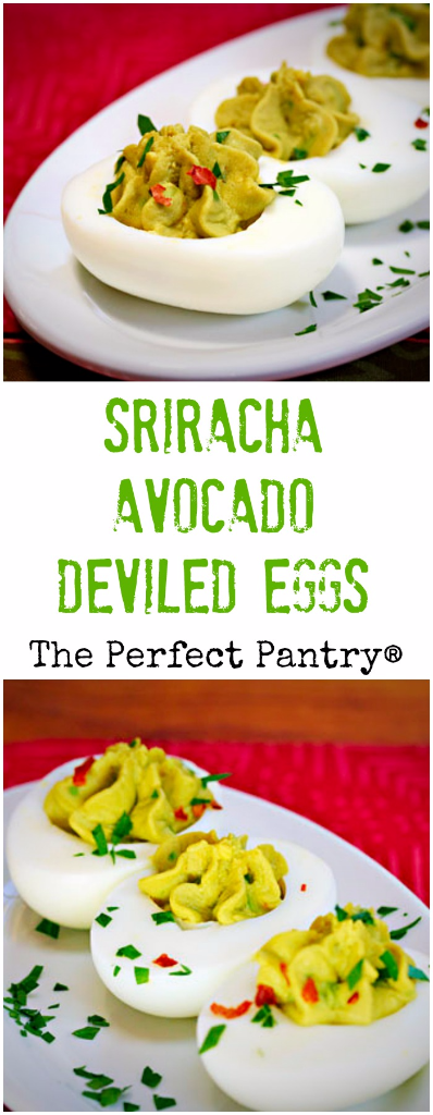 Sriracha avocado deviled eggs: sure to add some zing to your next brunch or party!