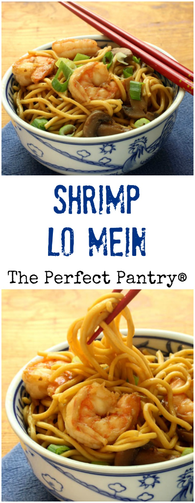 Shrimp lo mein, a restaurant take-out favorite, is so easy to make at home.