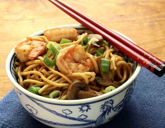 Shrimp lo mein, a restaurant take-out favorite, takes minutes to make at home, and tastes so much better when you make it yourself!