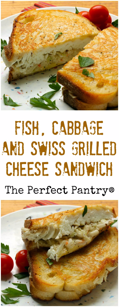 Fish, cabbage and Swiss grilled cheese sandwich, combining the best of two diner favorites.