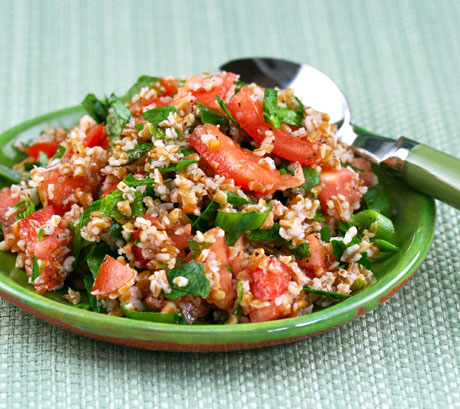 Tabbouleh, a popular Middle Eastern salad. #vegan