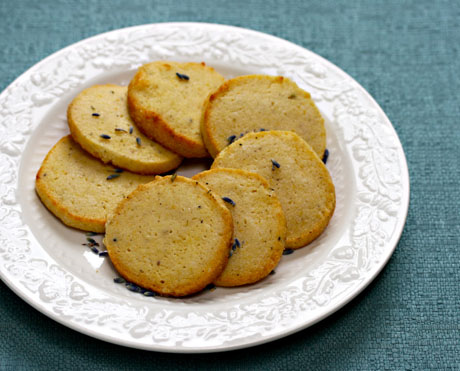 Lemon lavender cookies, perfect with afternoon tea.
