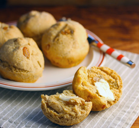 Irish soda bread muffins, from The Perfect Pantry.