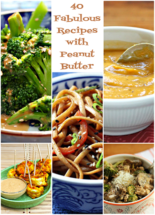 40 fabulous peanut butter recipes, sweet and savory!