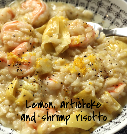 Make this lemon, artichoke and shrimp risotto in the pressure cooker, or on the stovetop. Easy either way!