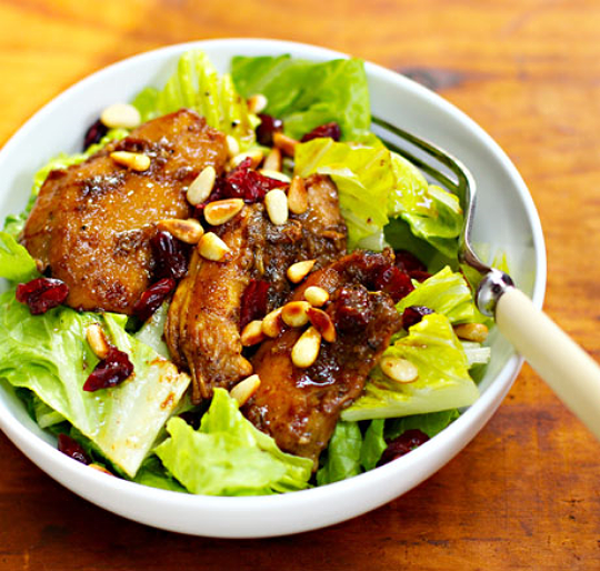 Slow cooker pomegranate chicken salad, from The Perfect Pantry