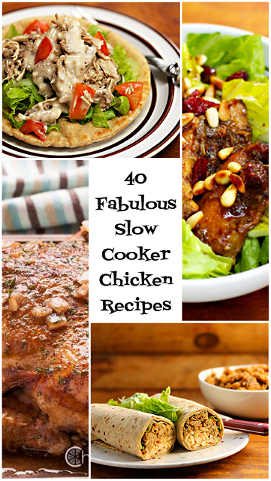 40 easy slow cooker chicken recipes (on The Perfect Pantry).