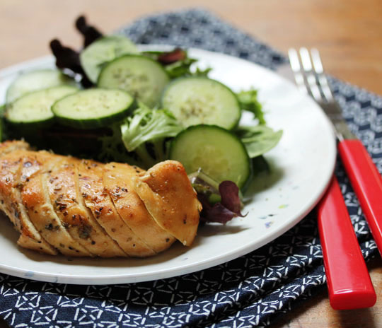Viking chicken with honey, butter and herbs: picnic perfect.