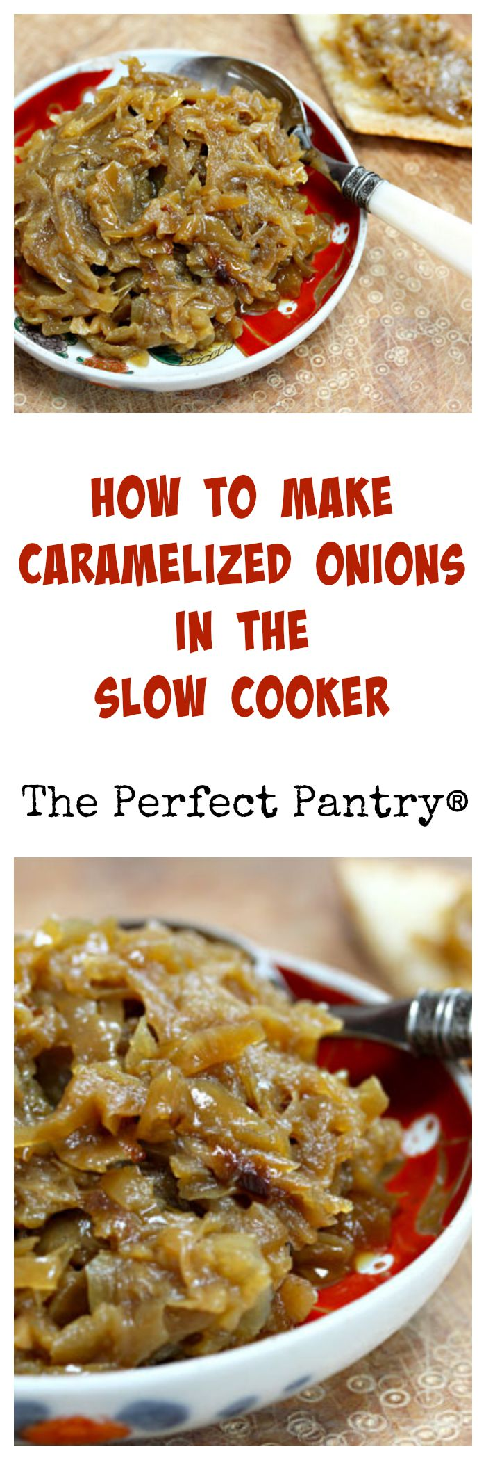 It's so easy to make caramelized onions in the crockpot!