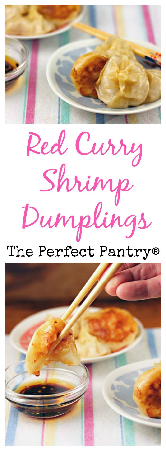 Red curry shrimp dumplings, an appetizer with a kick!