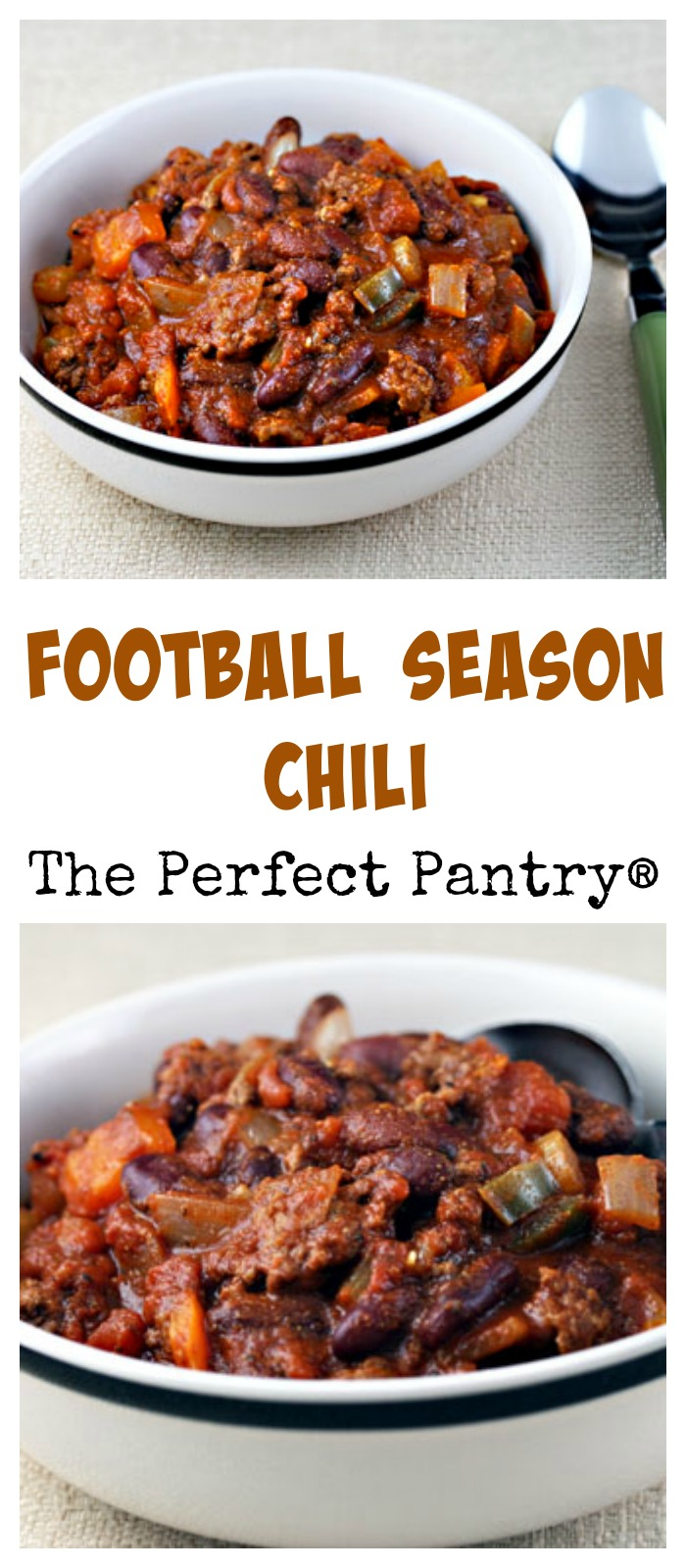 Football season chili, from an old Boston restaurant.