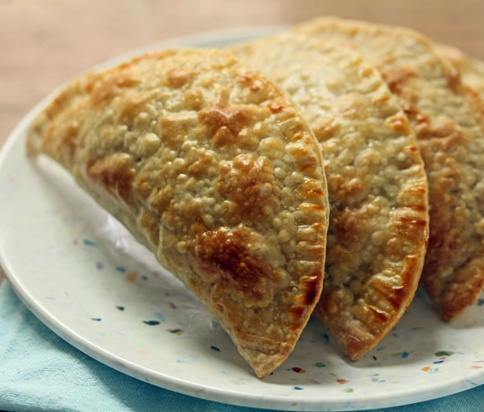 Make a batch of apple spice hand pies ahead of time, and stash them in the freezer. Easy reheating in the microwave. [ThePerfectPantry.com]