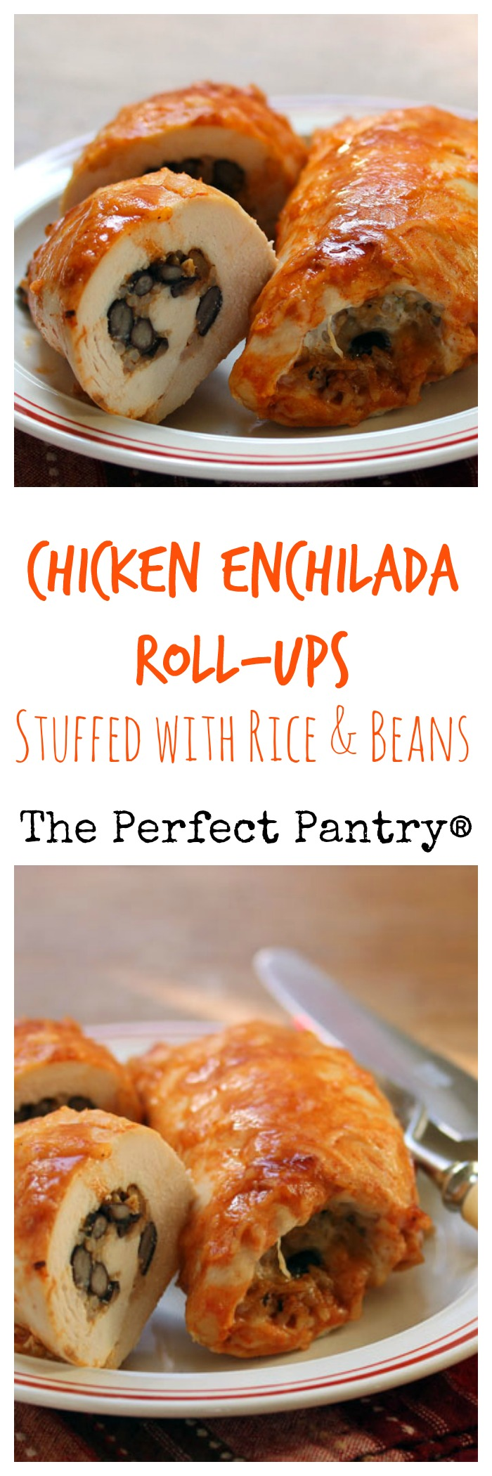 Easy, make-ahead-and-freeze chicken enchilada roll-ups. #glutenfree