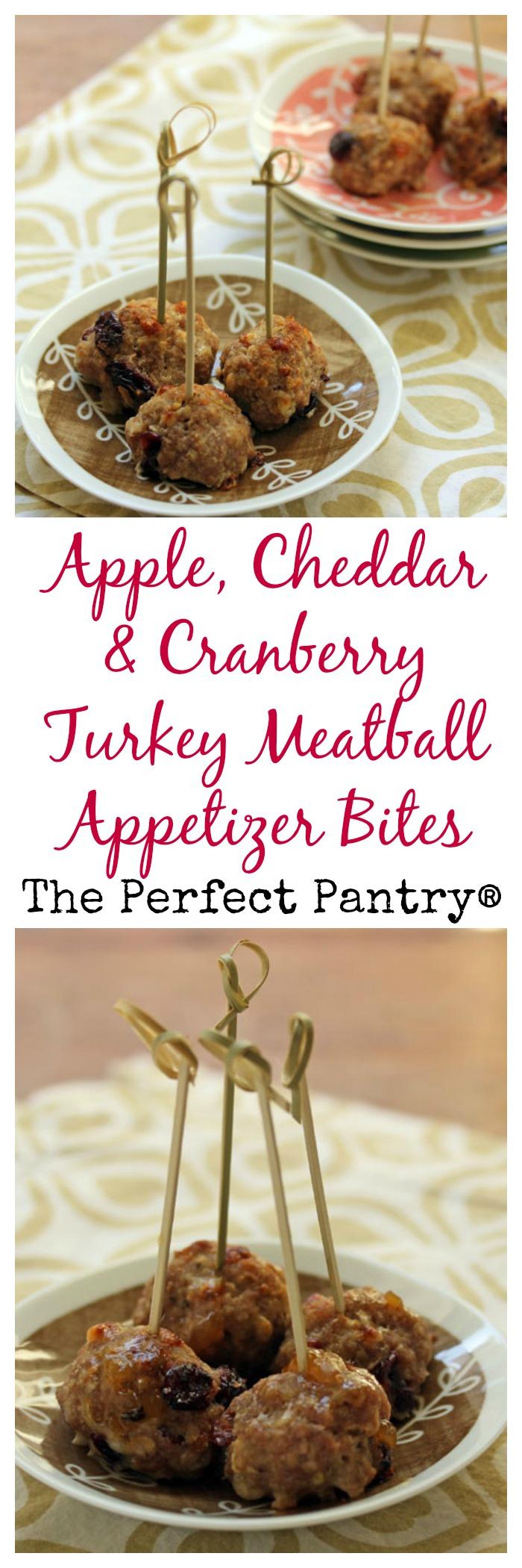 Little turkey meatballs that taste just like apple pie! [ThePerfectPantry.com]