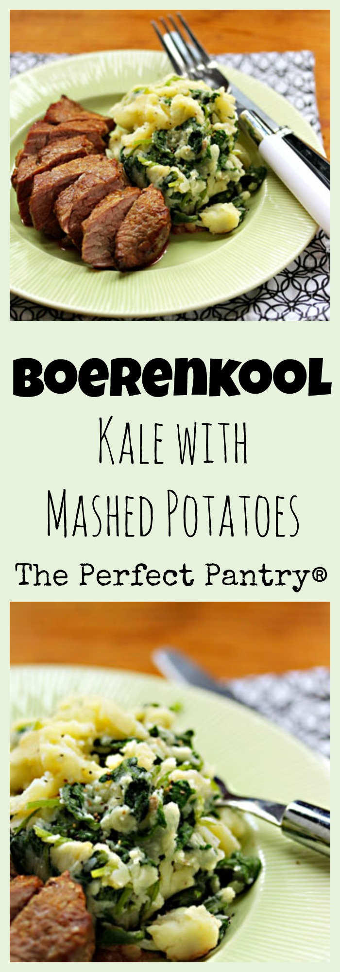 Boerenkool (kale with mashed potatoes), an easy side dish. #vegetarian #glutenfree