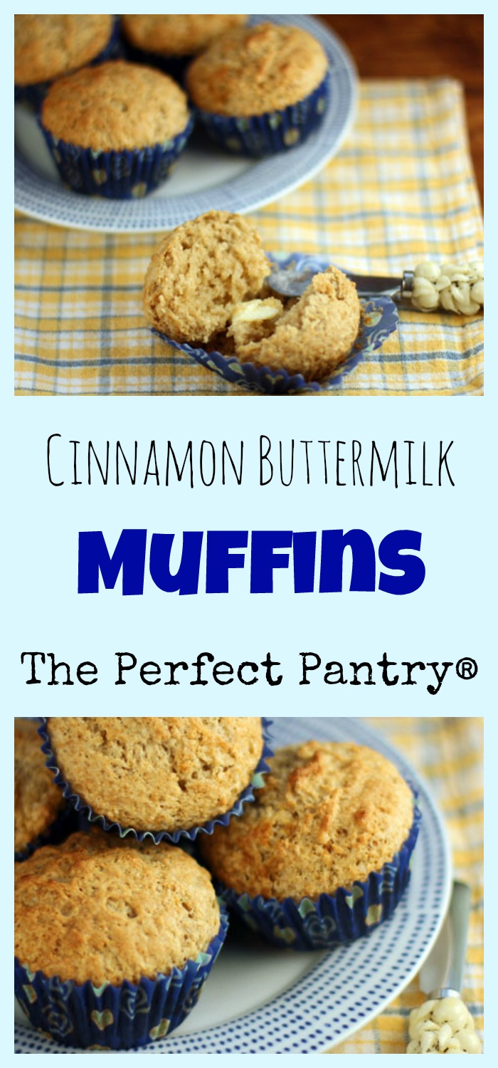 Cinnamon buttermilk muffins. For breakfast, brunch, or afternoon snack.
