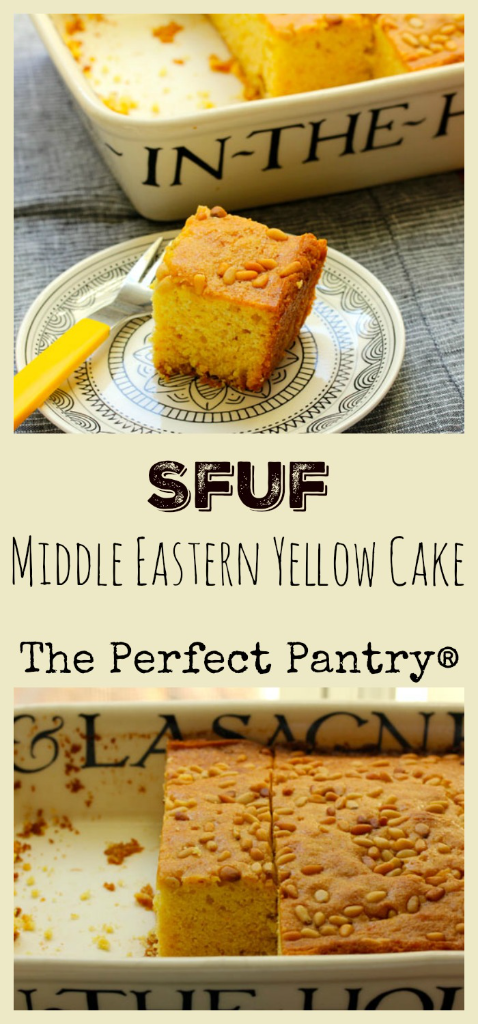 Sfuf, an orange-flavored cake that freezes so well!