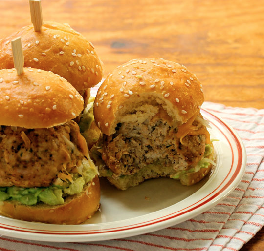 Who doesn't love meatballs? These Tex-Mex turkey meatball sliders are going to be the star of your next party! [ThePerfectPantry.com]