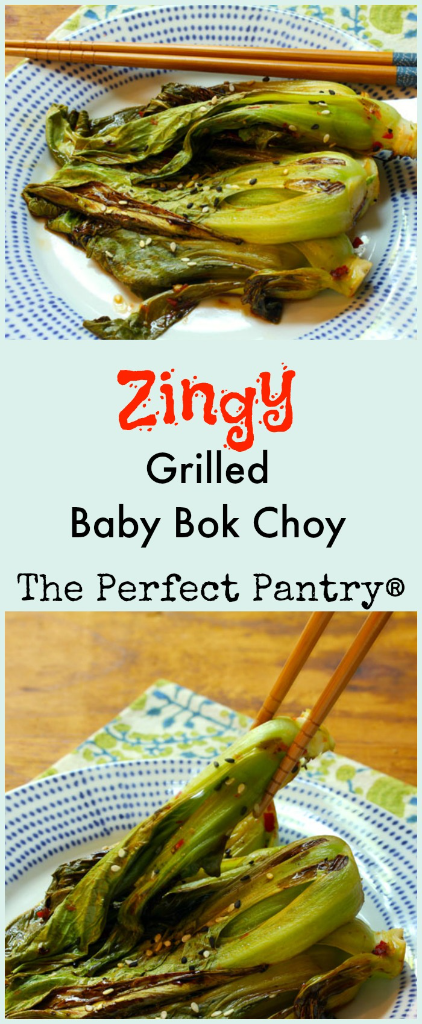 Bok choy tossed in a spicy sauce and cooked on the grill: amazing and so easy!