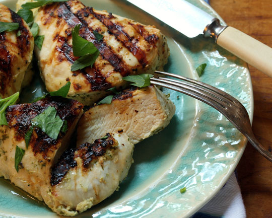 Marinate this chicken for 1-2 hours before you're ready to grill. Quick and easy!