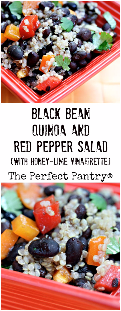 Black bean, quinoa and red pepper salad: a meal in a bowl!