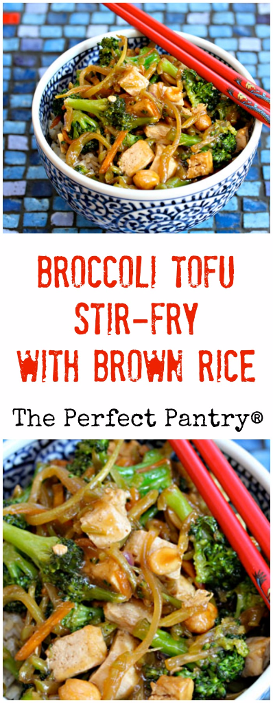 Make this broccoli tofu stir-fry with brown rice, for a rich, nutty flavor.