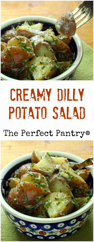Don't skimp on the dill in this creamy potato salad!