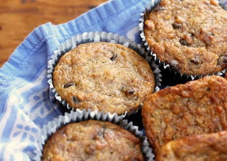 Make these Costa Rican banana nut muffins round or square, with or without chocolate chips.
