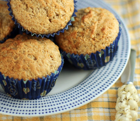 Cinnamon buttermilk muffins, for the holiday table.