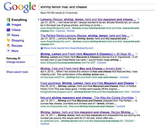 screen shot google search