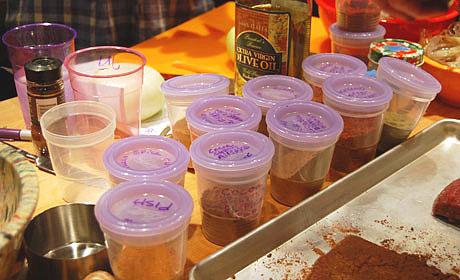 The spice rub laboratory!