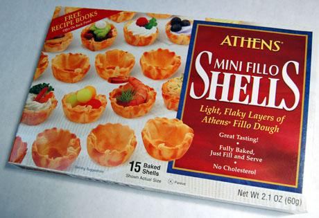 Phyllo shells